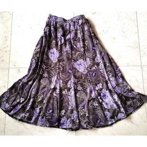 Fit and Flare knit skirt brown purple sz s
